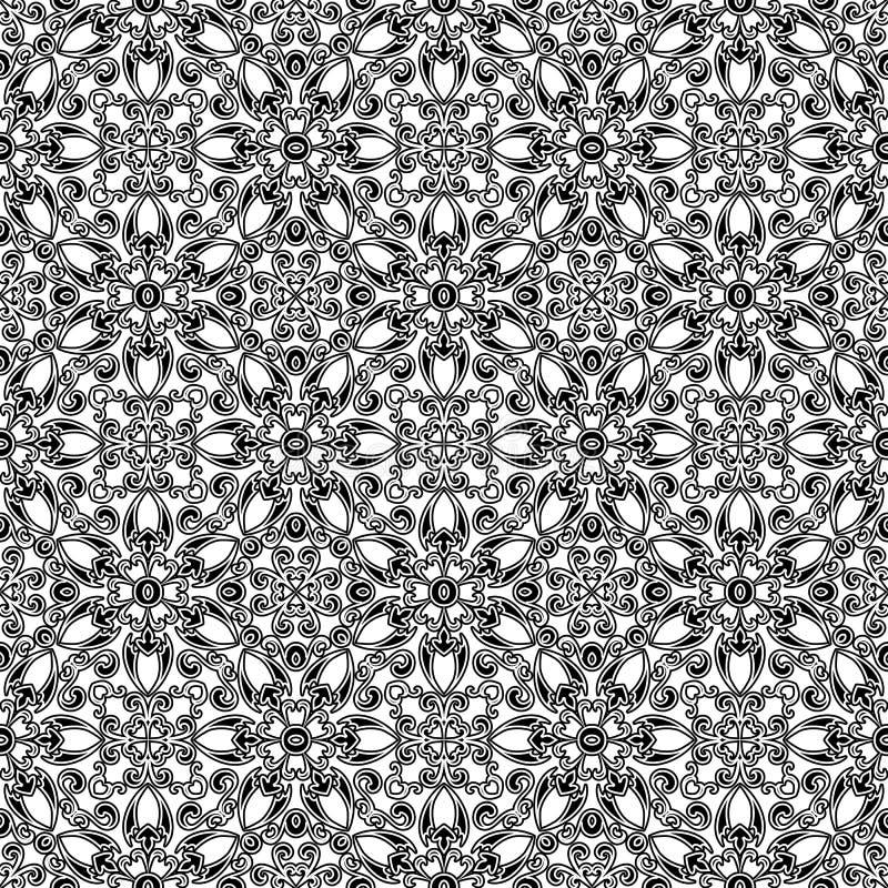 Abstrakcjonistyczny kwiecisty wzór ilustracji