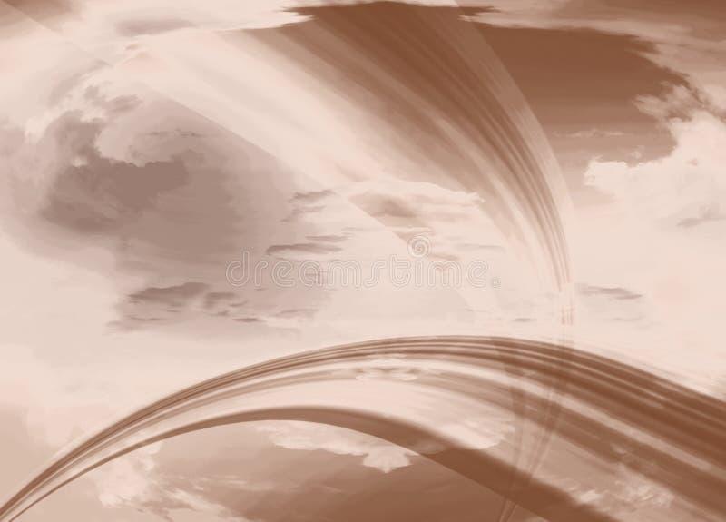 abstrakcjonistyczny lampas ilustracja wektor