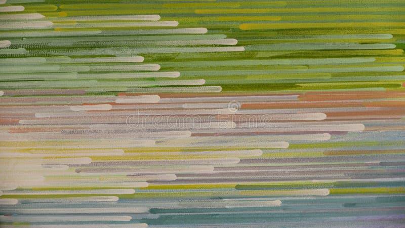 Abstrakcjonistyczny lampasa wzór: farba nafciani kolory na kanwie fotografia stock