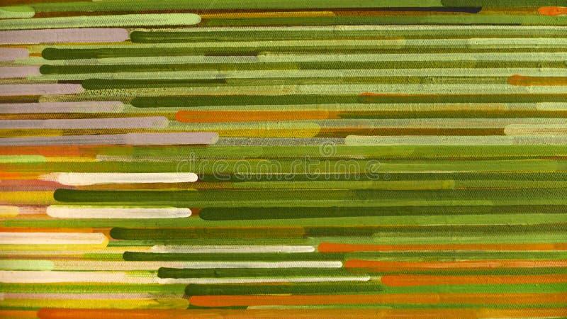Abstrakcjonistyczny lampasa wzór: farba nafciani kolory na kanwie zdjęcia stock