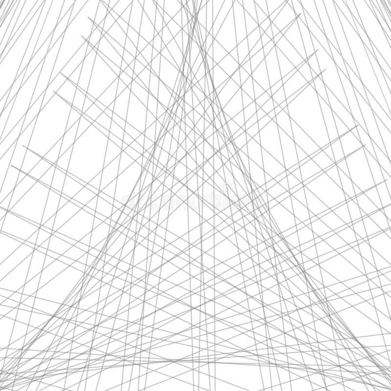 Abstrakcjonistyczny liniowy monochromatyczny tło Czarny i biały backgroun ilustracja wektor