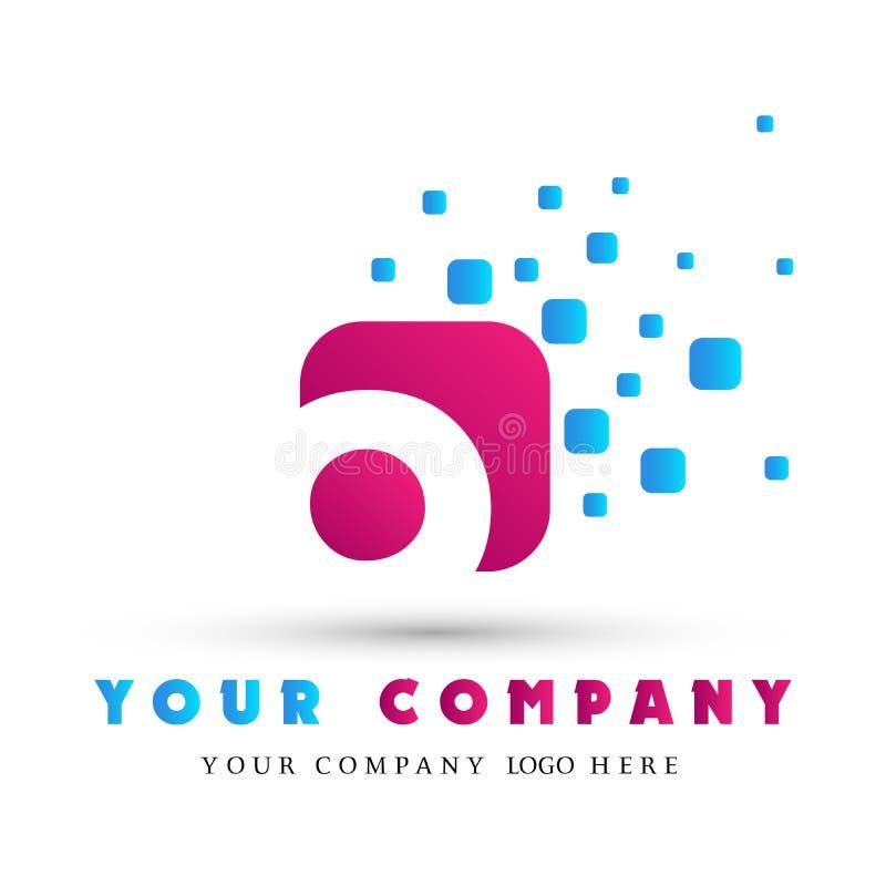 Abstrakcjonistyczny list kształtujący loga O biznesowy logo dla firmy, zjednoczenie na Korporacyjnym Inwestuje Biznesowego loga p ilustracja wektor