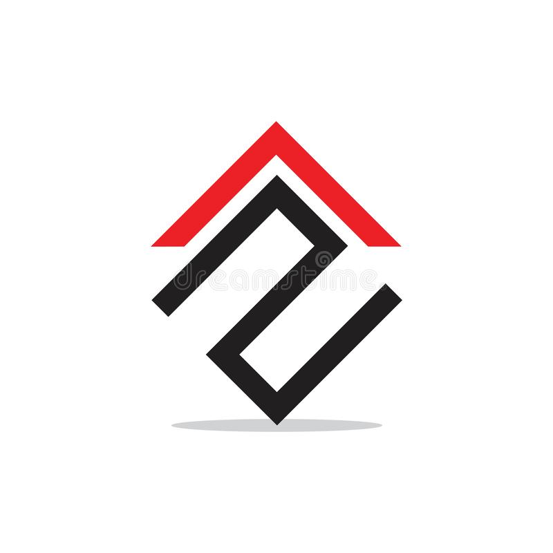 Abstrakcjonistyczny listu n logo geometryczny strza?kowaty wektor royalty ilustracja