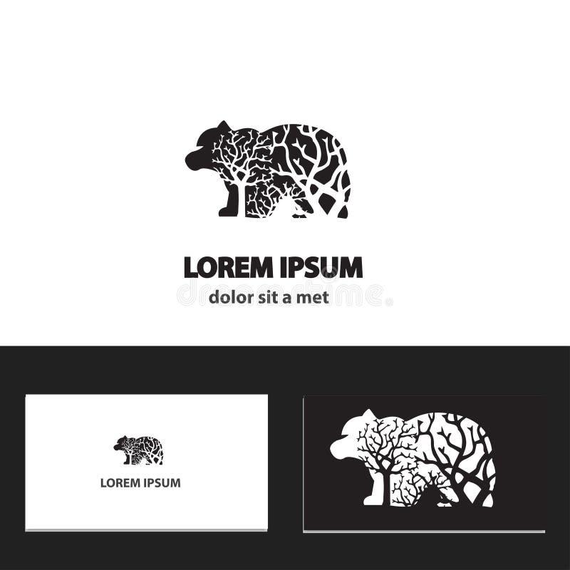 Abstrakcjonistyczny loga projekta szablon z wizytówką ilustracji
