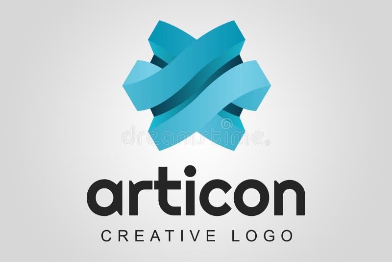 Abstrakcjonistyczny logo - Asrticon ilustracji