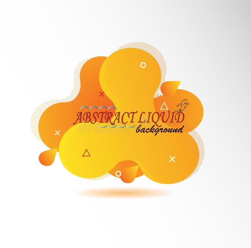 Abstrakcjonistyczny logo dla bubla ilustracji