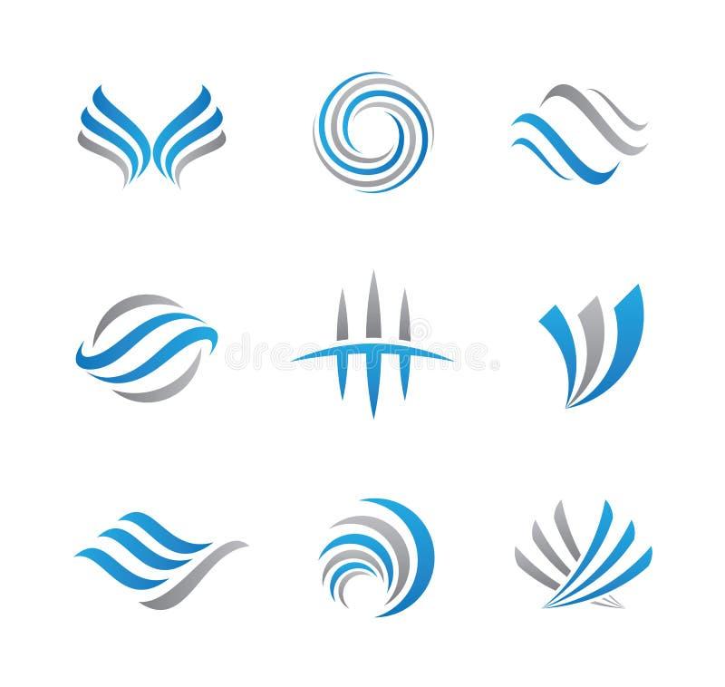 Abstrakcjonistyczny logo i ikona royalty ilustracja