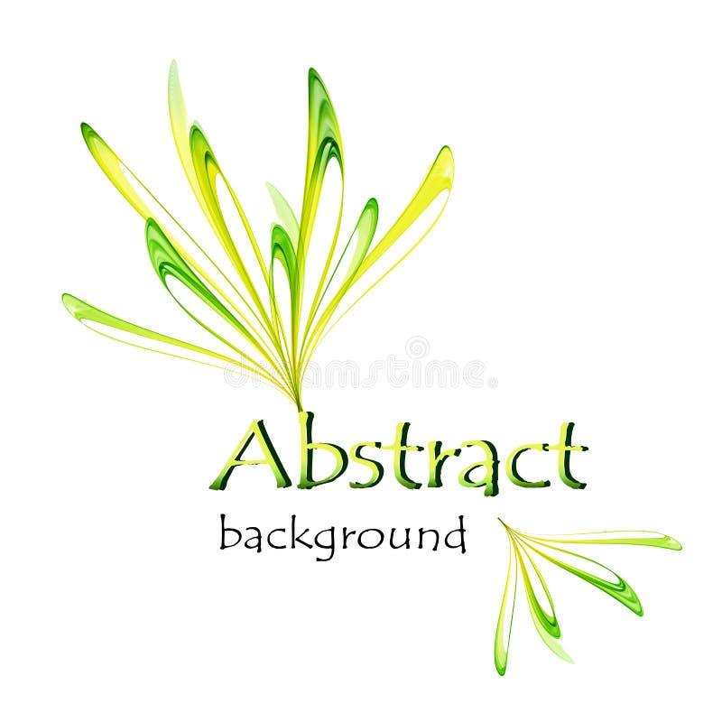 Abstrakcjonistyczny logo w postaci koloru żółtego i zieleń kwitniemy royalty ilustracja