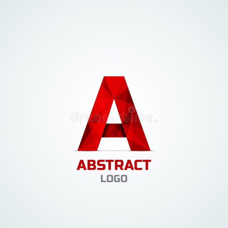 Abstrakcjonistyczny logo z A listem ilustracji