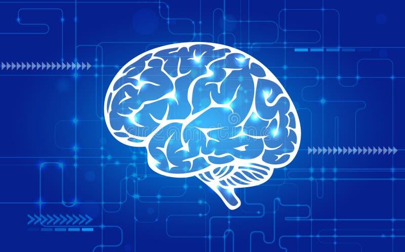 Abstrakcjonistyczny ludzki mózg royalty ilustracja