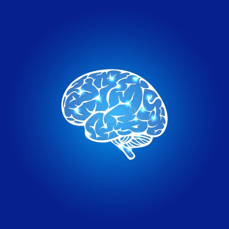 Abstrakcjonistyczny ludzki mózg ilustracji