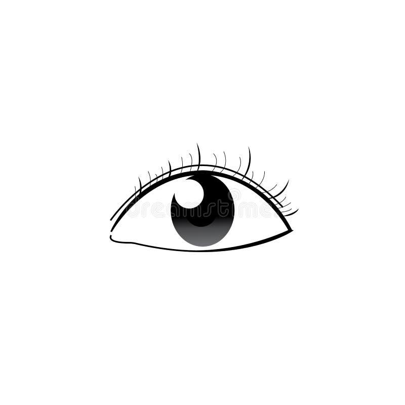 Abstrakcjonistyczny ludzki oko z odosobnionym bielem royalty ilustracja
