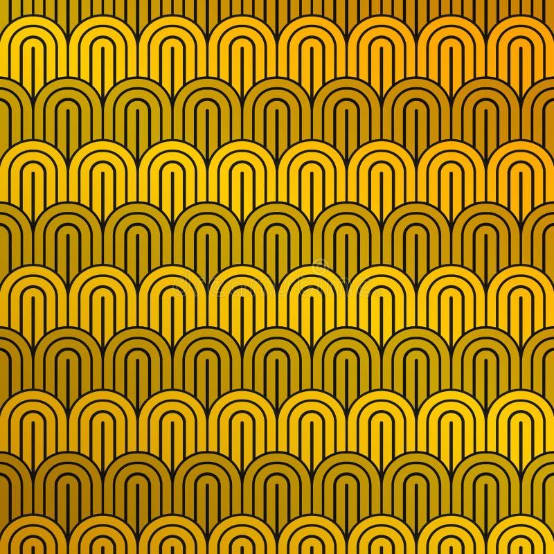 Abstrakcjonistyczny luksusowy musztardy czerni i koloru żółtego wzór okrąg deseniuje tło Ty możesz używać dla reklamy, drukujesz, ilustracja wektor