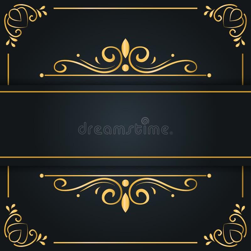 Abstrakcjonistyczny luksusowy tło, ornamentuje eleganckiego zaproszenia ślubną kartę, zaprasza, tło sztandaru okładkowa ilustracj ilustracji