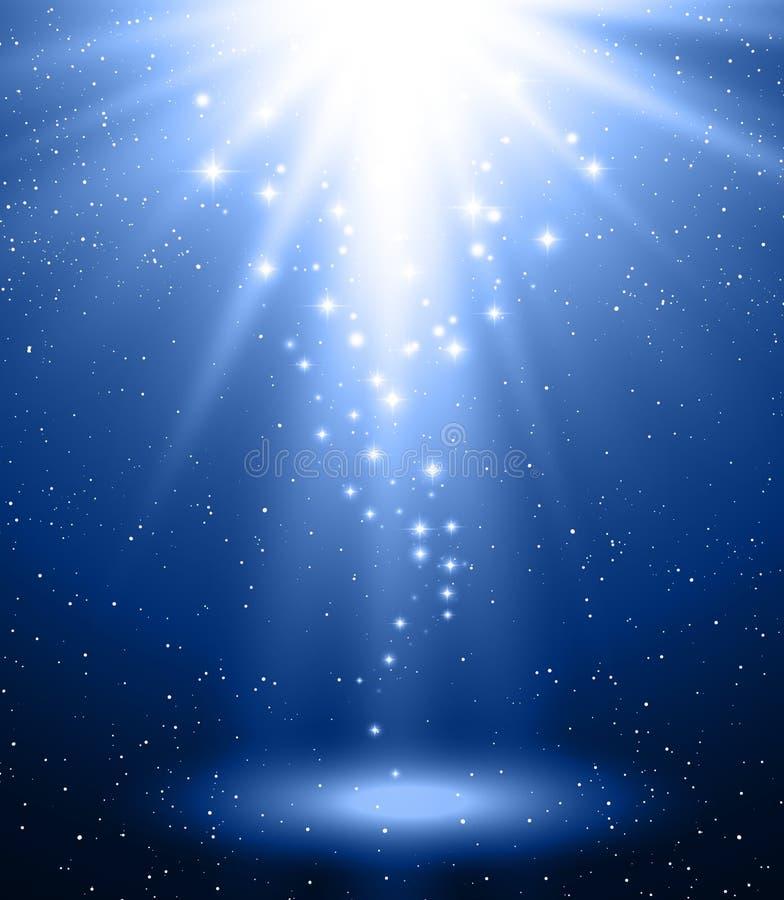 Abstrakcjonistyczny magiczny błękita światła tło royalty ilustracja
