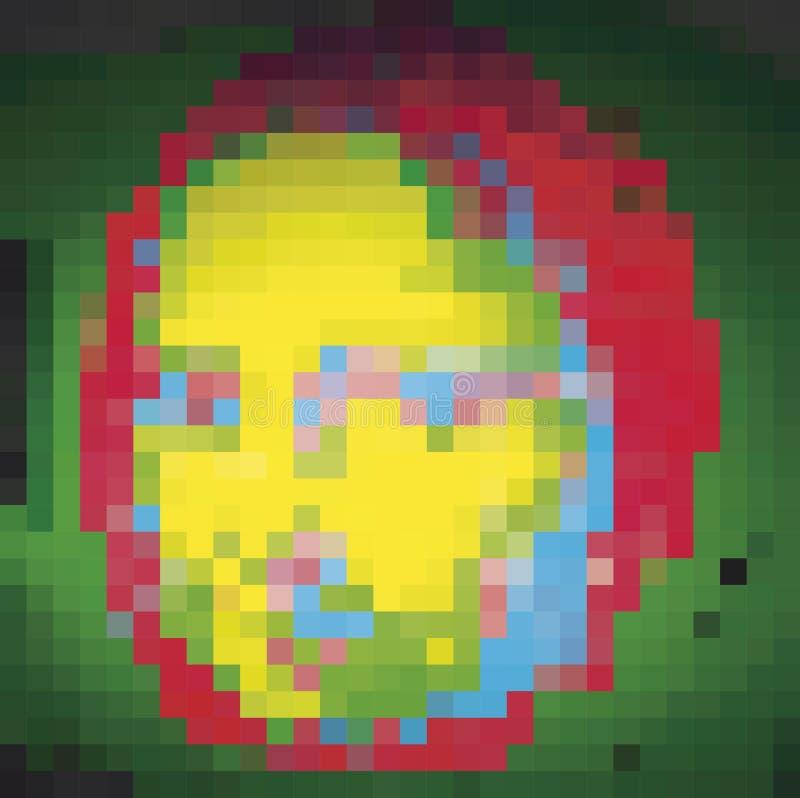 Abstrakcjonistyczny maluje Mona Lisa, cyfrowy styl z pikslem royalty ilustracja