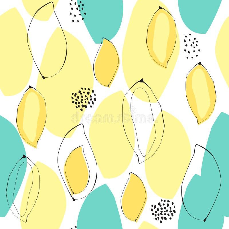 Abstrakcjonistyczny mangowy bezszwowy tło ilustracja wektor