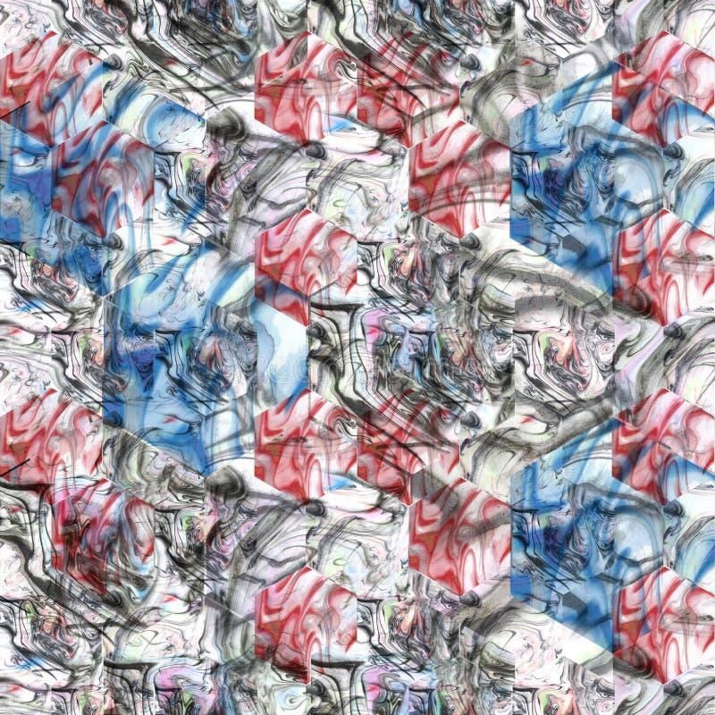 Abstrakcjonistyczny marmoryzaci tło Tekstura marmurowy kamień Seamles ilustracja wektor