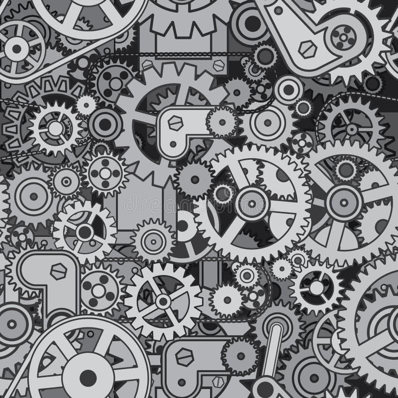 abstrakcjonistyczny mechanizm Bezszwowy Deseniowy Wektorowy projekt royalty ilustracja