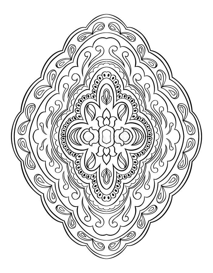 Abstrakcjonistyczny medalion dla projekta ilustracja wektor