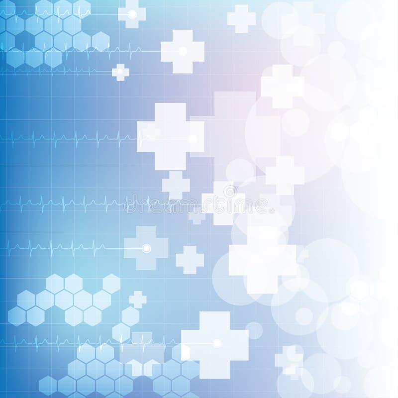 Abstrakcjonistyczny medyczny błękitny lekkich kolorów tło royalty ilustracja
