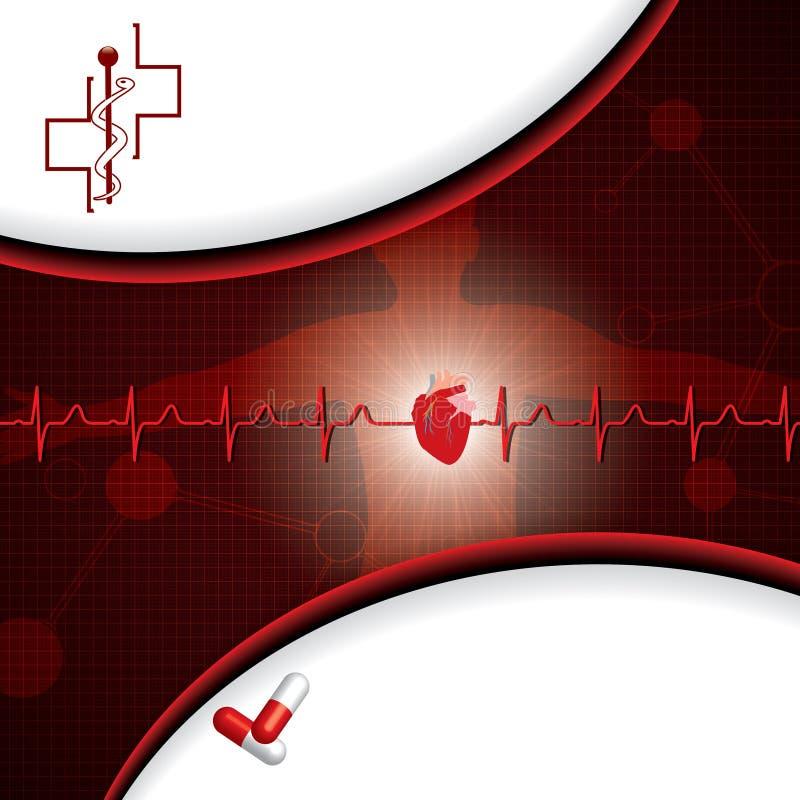 Abstrakcjonistyczny medyczny kardiologii ekg ilustracja wektor