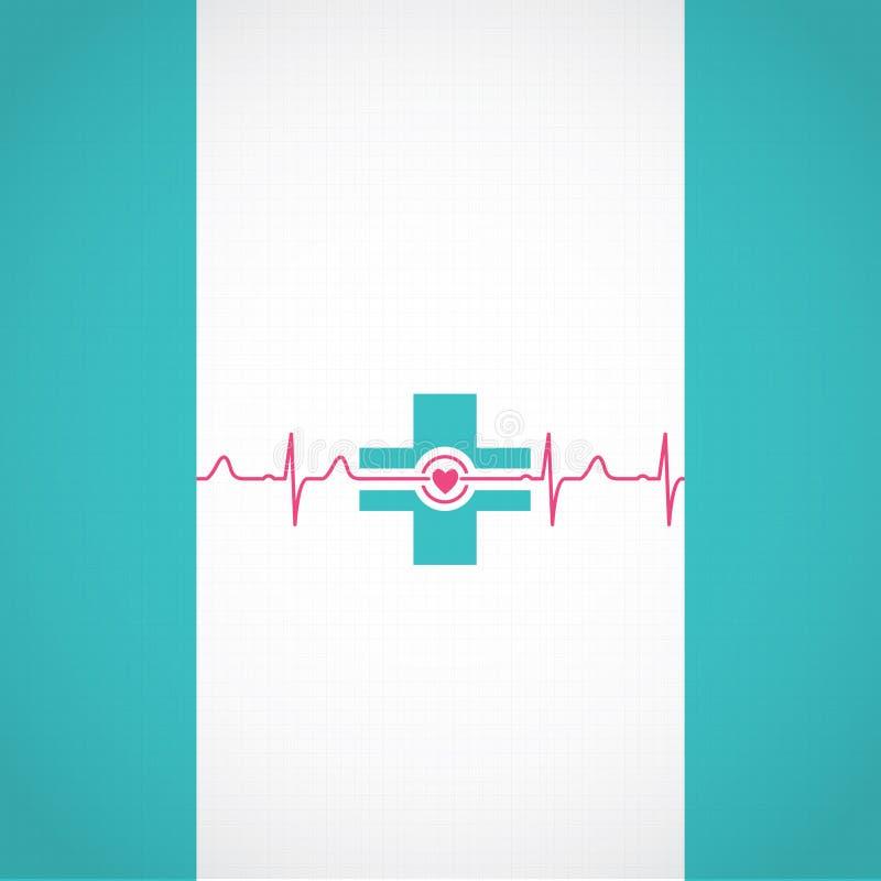 Abstrakcjonistyczny medyczny kardiologii ekg tło ilustracja wektor