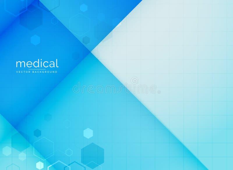 Abstrakcjonistyczny medyczny tło w błękitnym kolorze royalty ilustracja