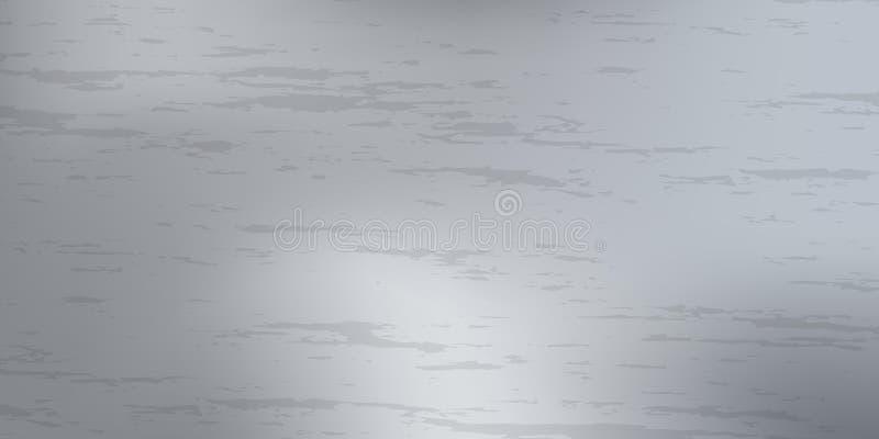 Abstrakcjonistyczny metalu tło z śruba stalowym talerzem ilustracja wektor