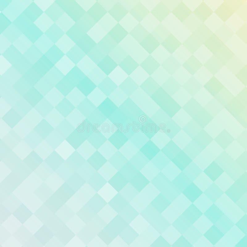 Abstrakcjonistyczny miękki błękitny koloru kwadrata wzór, kwadrat mozaiki backgrou royalty ilustracja