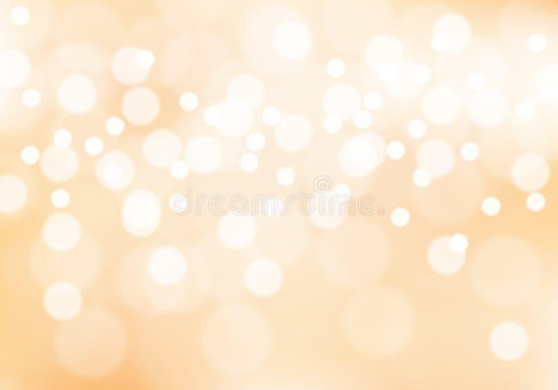 Abstrakcjonistyczny miękki pomarańczowy bokeh światła tła wektor ilustracja wektor