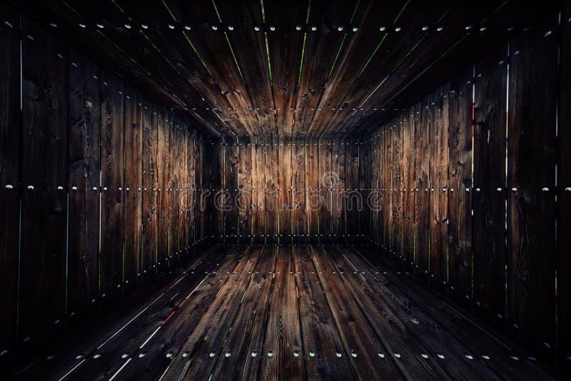 Abstrakcjonistyczny Miastowy Drewniany Wewnętrzny Izbowy tło obrazy royalty free