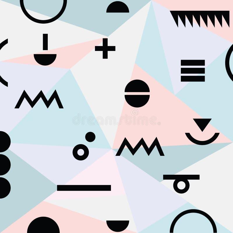 Abstrakcjonistyczny minimalny geometrical nowożytny materiału wzoru tło royalty ilustracja