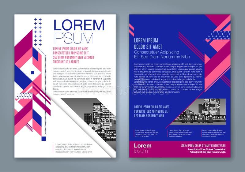 Abstrakcjonistyczny minimalny geometryczny kształta wieloboka projekta tło dla biznesowego sprawozdanie roczne książkowej pokrywy ilustracja wektor
