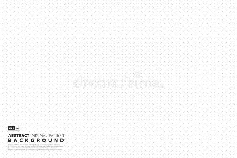 Abstrakcjonistyczny minimalny szarości kropki kwadrata wzoru projekt na białym tle Ilustracyjny wektor eps10 royalty ilustracja