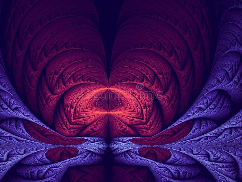 Abstrakcjonistyczny mistyczny lub ezoteryczny tło - cyfrowo wytwarzający wizerunek royalty ilustracja