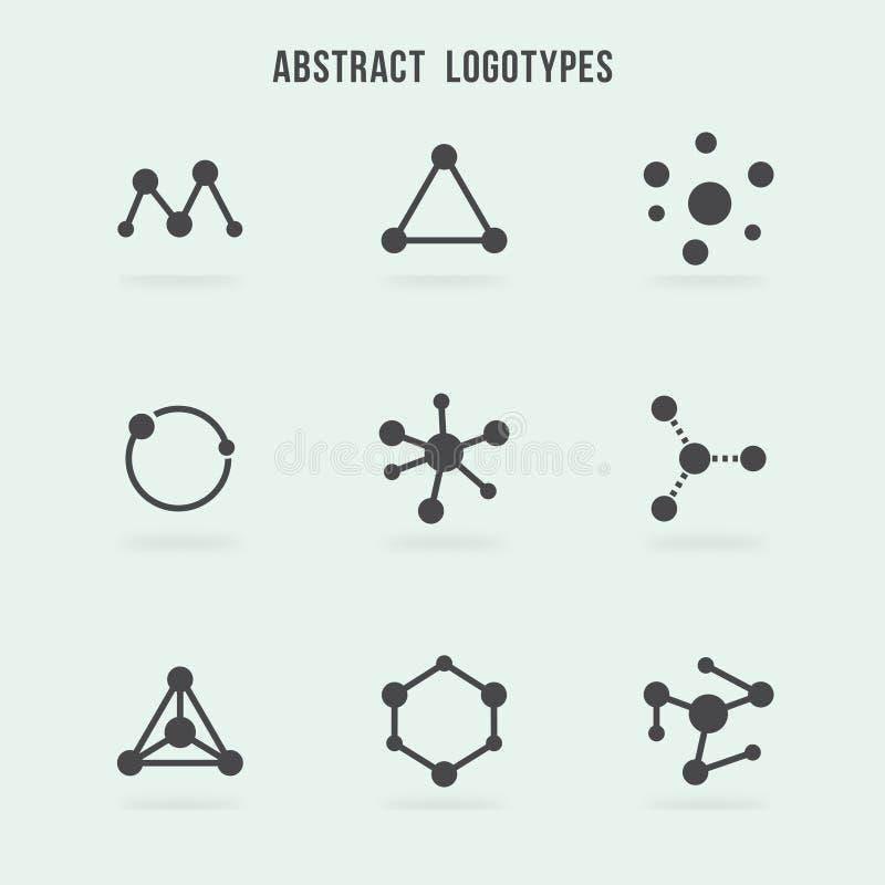 Abstrakcjonistyczny modnisia loga wektoru set ilustracji