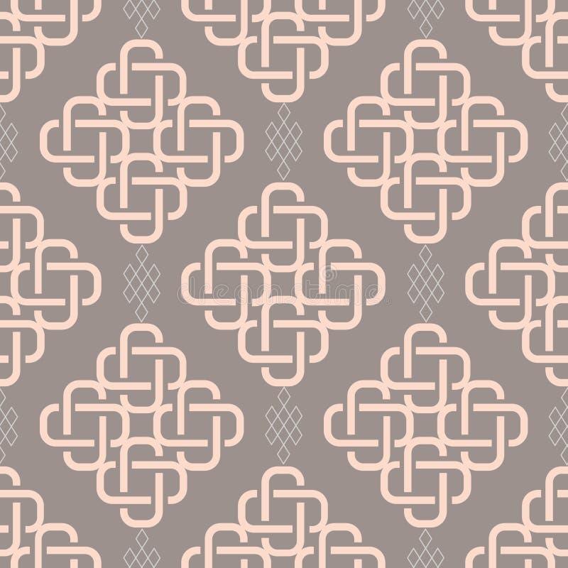 Abstrakcjonistyczny modny geometrical bezszwowy wzór ilustracji
