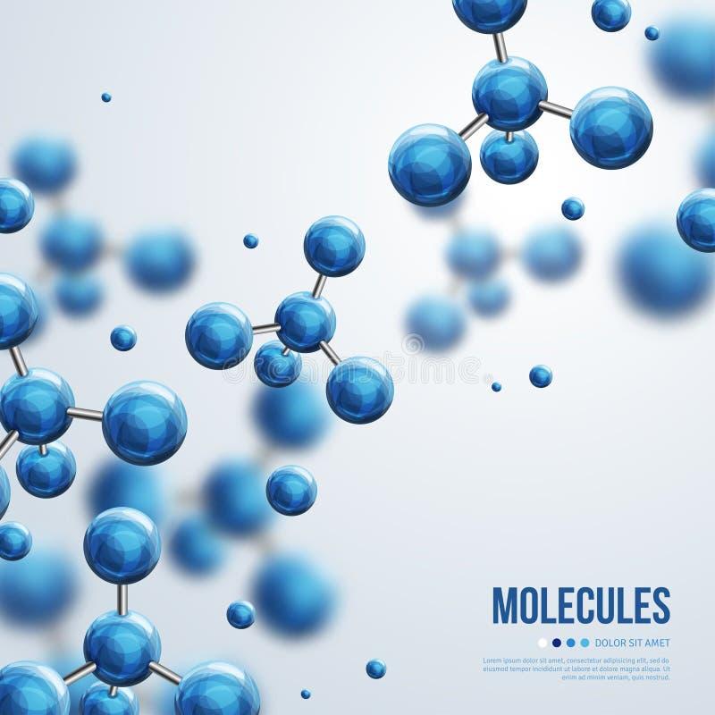 Abstrakcjonistyczny molekuła projekt ilustracja wektor