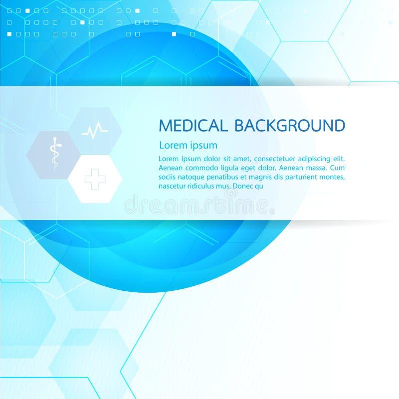 Abstrakcjonistyczny molekuły medycznego tła pojęcia szablonu projekt Ve ilustracji