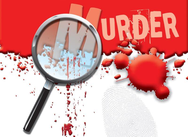abstrakcjonistyczny morderstwo ilustracja wektor
