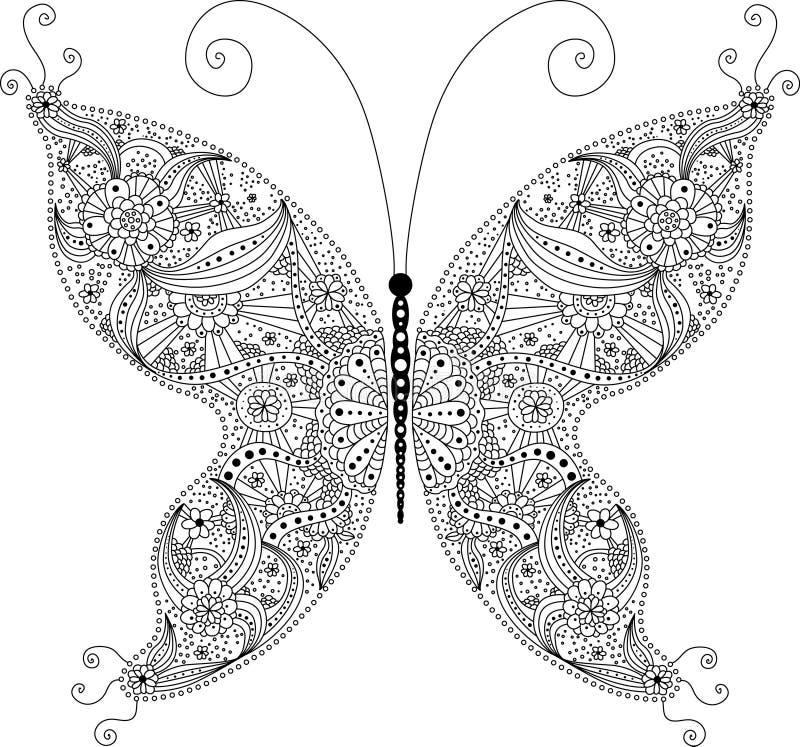 abstrakcjonistyczny motyl zdjęcie royalty free