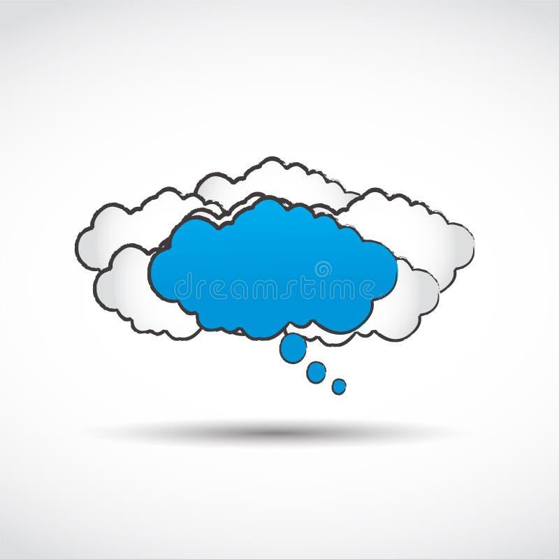 Abstrakcjonistyczny mowy chmury pojęcie royalty ilustracja