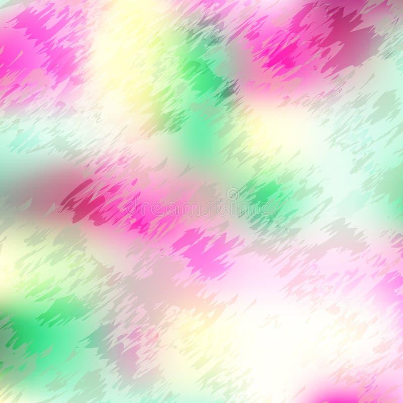 Abstrakcjonistyczny mozaiki tło magenta, zieleń i kolor żółty, barwi, kolorowi czerepy, craquelure, gradient ilustracja wektor