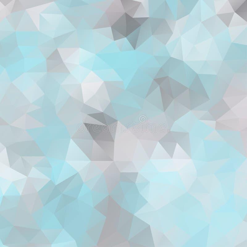 Abstrakcjonistyczny mozaiki tło trójgraniaści wieloboki ilustracji