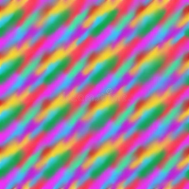 Abstrakcjonistyczny multicolor jaskrawy zamazany symetryczny tło ilustracji