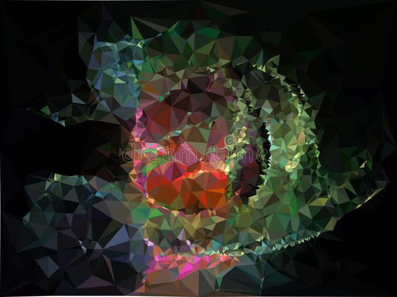 Abstrakcjonistyczny multicolor mozaiki tło Raster klamerki sztuka ilustracji