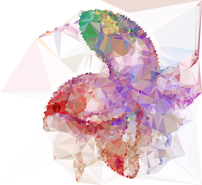 Abstrakcjonistyczny multicolor mozaiki tło Wektorowa klamerki sztuka ilustracja wektor