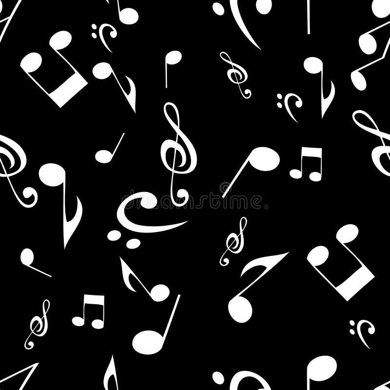 Abstrakcjonistyczny muzyczny bezszwowy deseniowy tło również zwrócić corel ilustracji wektora royalty ilustracja