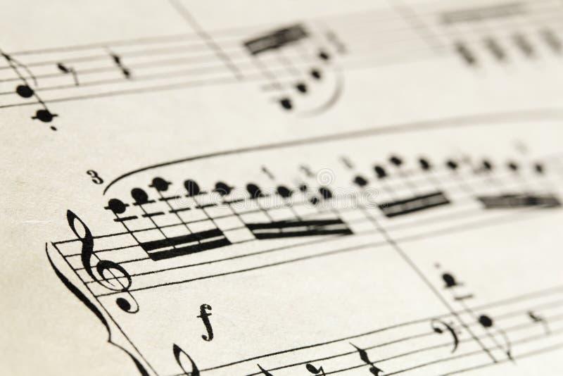 abstrakcjonistyczny muzyczny prześcieradło zdjęcie stock